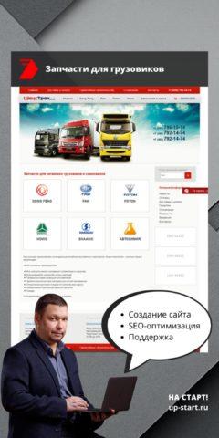 Создание сайта запчастей для китайских грузовиков