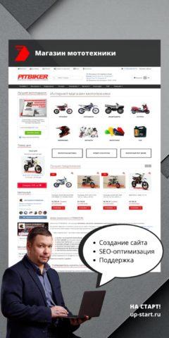 Разработка интернет магазина питбайков