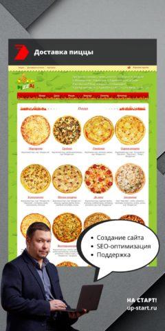 Создание интернет магазина доставки пиццы