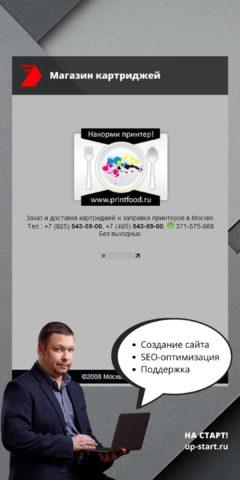 Создание сайта интернет-магазина картриджей
