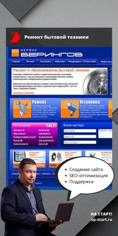 Создание сайта по ремонту бытовой техники